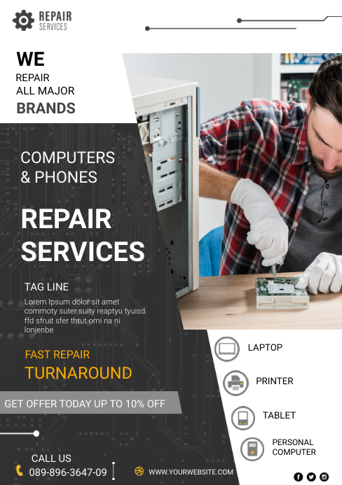 Repair Sevices A5 template