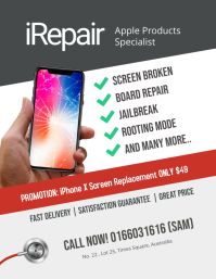 Repair Smartphone iphone android flyer template