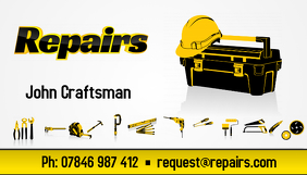 Repairs service business card