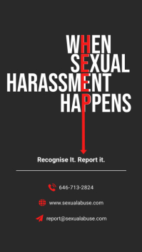 Report and Helpline Sexual Harassment Instagr Historia de Instagram template