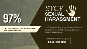 Report and Stop Sexual Harassment Facebook Co template