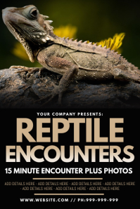 Reptile Encounters Poster