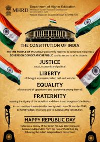Republic Constitution India 2021 Template A4