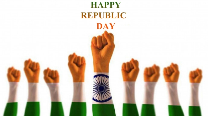 republic day, india map with flag, 26 th jan Foto de Portada de Canal de YouTube template