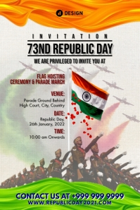 Republic Day 2021 Invitation Template Poster