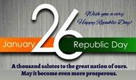 Republic Day Etykietka doczepna template