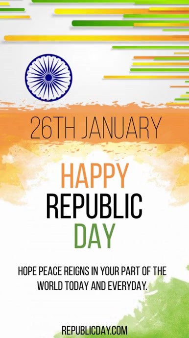 REPUBLIC DAY GREETING Instagram Story template