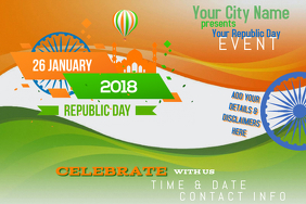 Republic Day January India Celebration Country Orange Green