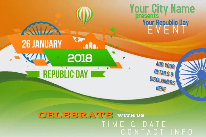 Republic Day January India Celebration Country Orange Green
