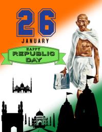 Republic day of india Pamflet (VSA Brief) template