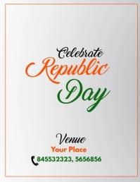 Republic Day Sale Video Flyer Folheto (US Letter) template