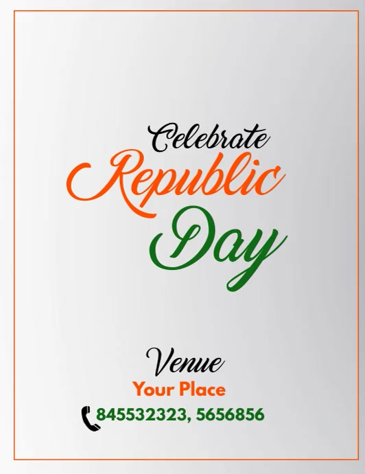 Republic Day Sale Video Flyer ใบปลิว (US Letter) template
