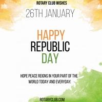 REPUBLIC DAY WISH Square (1:1) template