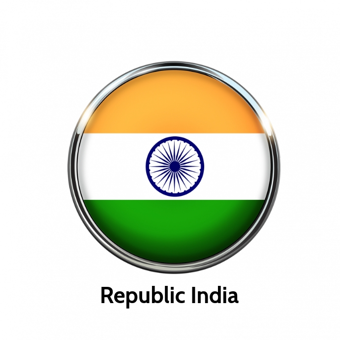 Republic India poster template