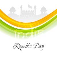 Republic India poster template Square (1:1)