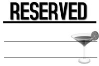 Reserved Bar Sign