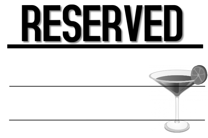 Reserved Bar Sign Template