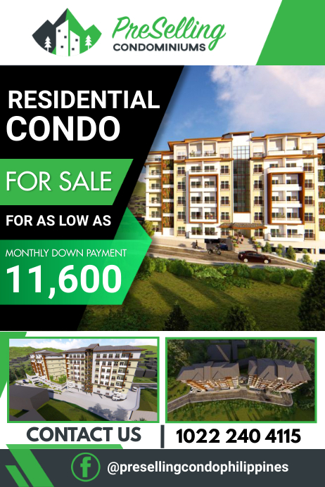 Residential Condo Poster template