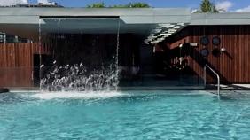 Resort Pool Zoom Virtual Background Video Presentation (16:9) template
