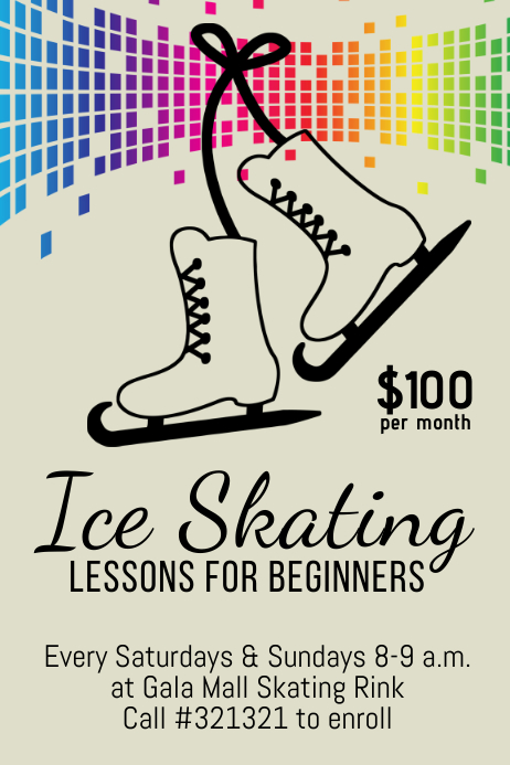 ice skating lessons template