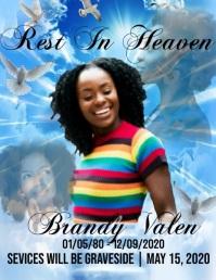 Rest in heaven Flyer (format US Letter) template