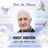 Rest In Heaven Funeral Announcement Instagram-bericht template