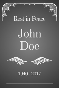customizable design templates for rest in peace postermywall