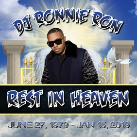REST IN PEACE HEAVEN OBITUARY FLYER TEMPLATE
