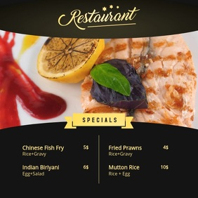 Restaurant Ad Digital Menu