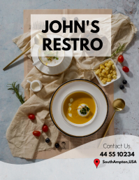 Restaurant Ad Flyer Template