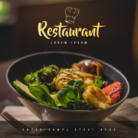 Restaurant Ad Template Album Cover