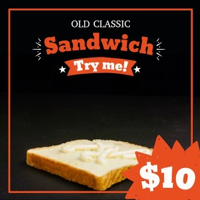 Restaurant Ad With Sandwich Video Template