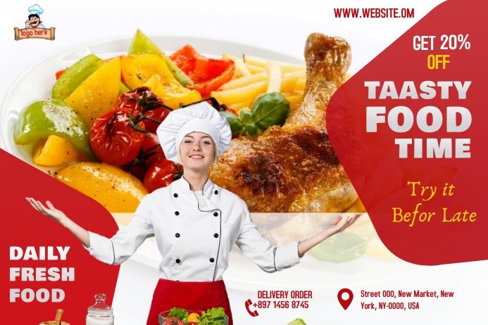 Restaurant ads Tatak template