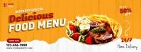 Restaurant ads Facebook-coverfoto template