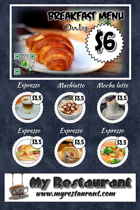 restaurant advertisement template