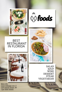 restaurant advertising poster template
