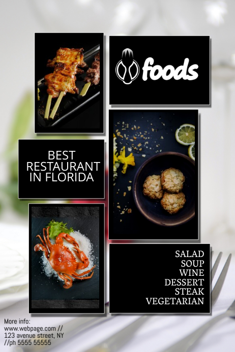 restaurant advertising poster flyer template