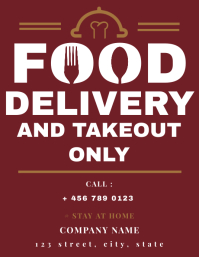 Restaurant and bar home delivery service flye