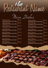 Restaurant and Cafe Menu Flyer Template
