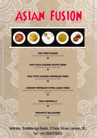 Restaurant Asian Fusion Menu