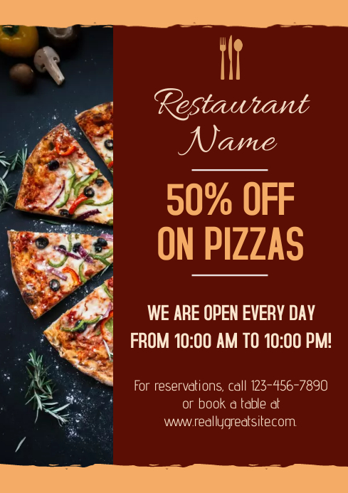 Restaurant Banner Large A3 template