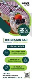 Restaurant Bar Advert Roll Up Banner