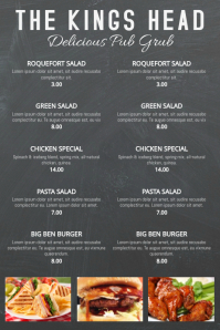 Restaurant Bar Chalkboard Menu Template