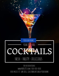 Restaurant Bar Cocktail Flyer Template