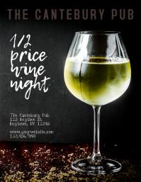 Restaurant Bar or Wine Bar Wine Bottle Flyer