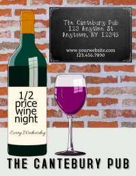 Restaurant Bar or Wine Bar Wine Bottle Sale event