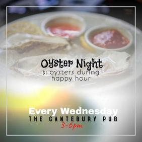 Restaurant Bar Oyster Night instagram template