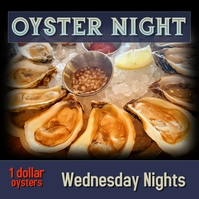Restaurant Bar Oyster Night Special Instagram Iphosti le-Instagram template