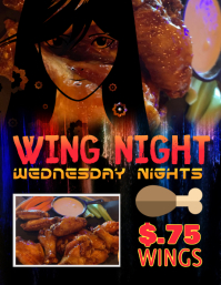 Restaurant Bar Wing Night Flyer Template