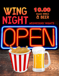Restaurant Bar Wing Night Specials Template